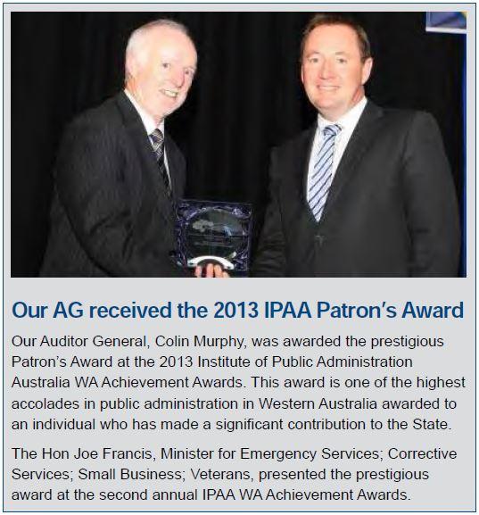 AG received 2013 IPAA Patron's Award