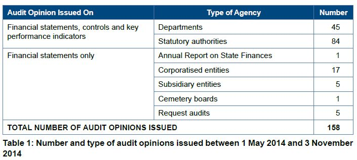summary of the auditor