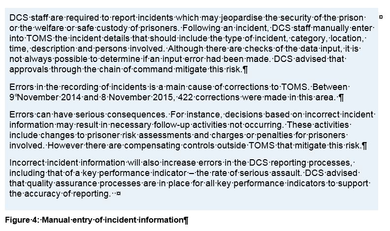 Figure 4 - Manual entry of incident information