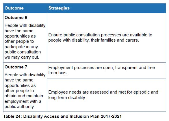 Table 24 Disability Access and Inclusion Plan 2017-2021 - 3