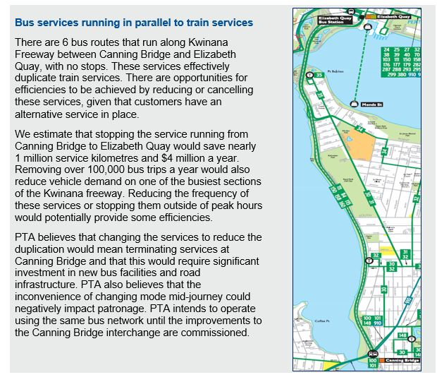 Case study - bus services running in parallel to train
