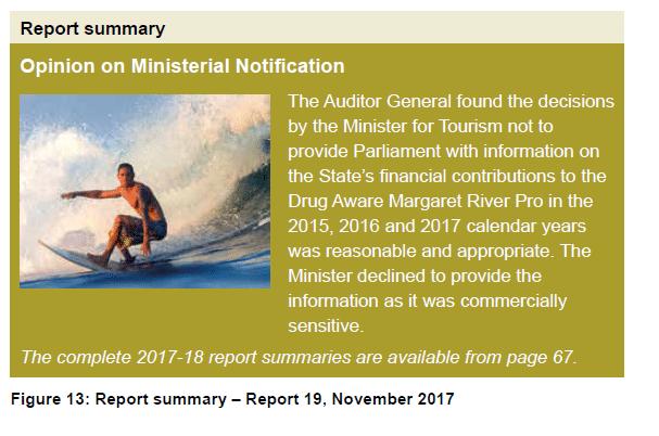 Figure 13 - Report summary - Report 19, November 2017