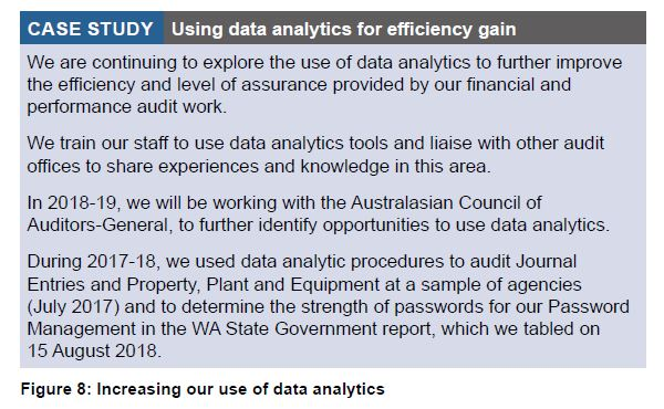 Figure 8 - Increasing our use of data analytics